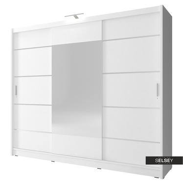 Kleiderschrank ORNOM 250 cm mit Spiegeltür