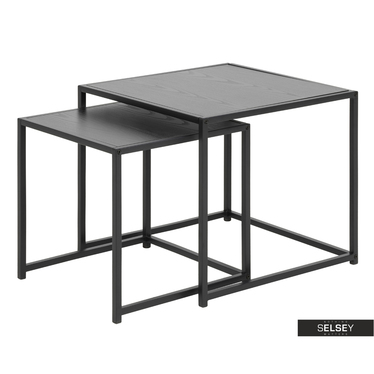 Beistelltisch-Set KRAPINA 50x50 cm und 46x45 cm