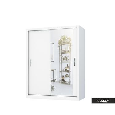Kleiderschrank LUGAROS 150 cm mit Spiegel, optional mit LED