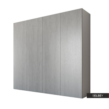 Kleiderschrank NAVAS grau mit Falttüren