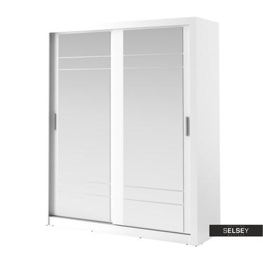 Kleiderschrank LUGAROS 203 cm mit 2 Spiegeln