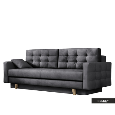 Sofa VERAT mit Veloursbezug in Grau