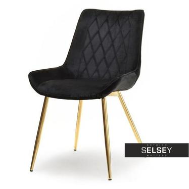 Stuhl ADEL schwarz/gold
