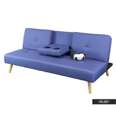 Sofa CINEMATICON dunkelblau mit Getränkehalter