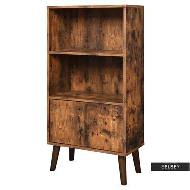 Bücherschrank SKENDERA in rustikaler Holzoptik