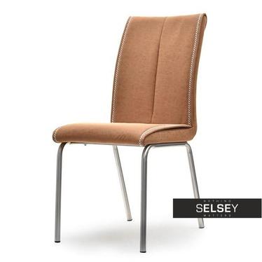 Stuhl BELGIO hellbraun mit Kunstlederbezug