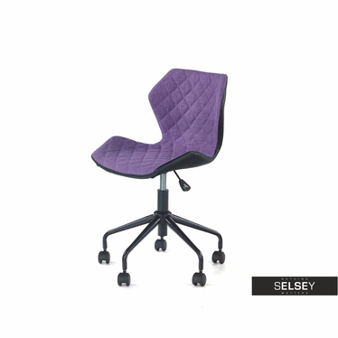 Drehstuhl KALL schwarz/violett