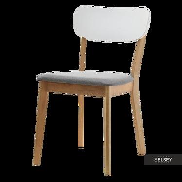 Stuhl AMADO mit weißer Rückenlehne gepolstert