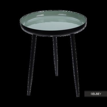 Beistelltisch CILIAN aus Metall schwarz/mintgrün 37 cm