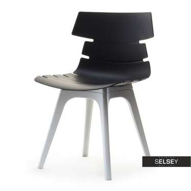 Kunststoffstuhl ZAC DSX schwarz/weiß