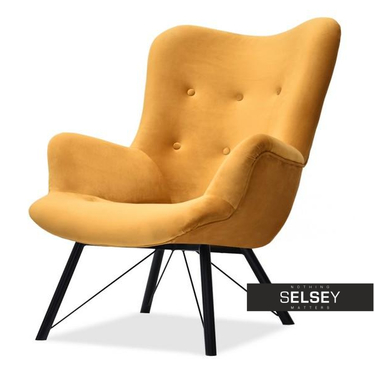 Sessel DALTON honiggelb/schwarz