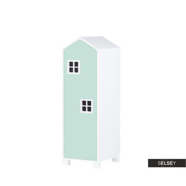 Kinderzimmerschrank VESPE minzgrün 126 cm hoch