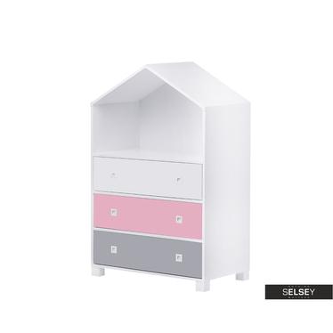 Kinderkommode MIRUM rosa / grau