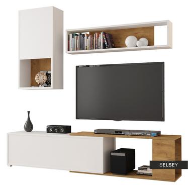 Wohnwand CAIARA mit TV-Board, Hängeschrank und Wandregal