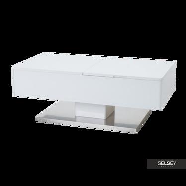 Couchtisch FAXE 110x60 cm weiß mit Stauraum