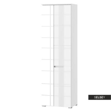 Kleiderschrank MAGONER Weiß mit Spiegel 60 cm breit