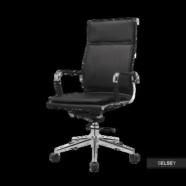 Bürostuhl KELING schwarz mit Kunstlederbezug