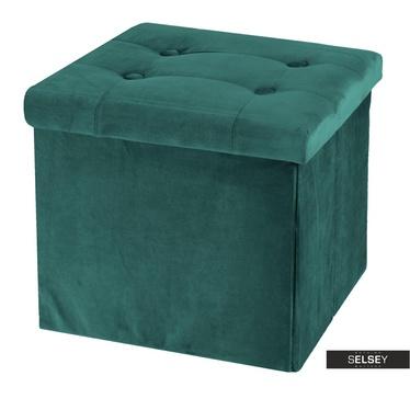 Pouf VELS grün mit Stauraum