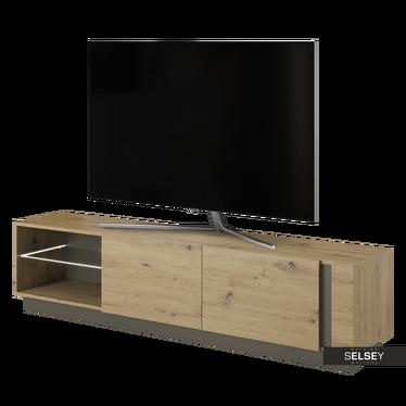 TV-Lowboard SKOKY Eiche/ Schwarzgrau 187 cm