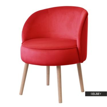 Sessel GRUU rot mit runder Lehne