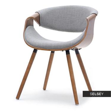 Stuhl BENT Nussbaum/grau