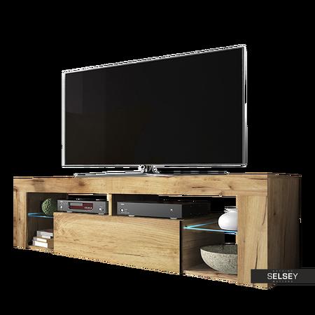 TV-Lowboard BIANKO optional mit LED 140 cm