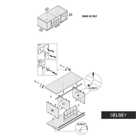 wandregal italia in rostoptik mit schiebet r. Black Bedroom Furniture Sets. Home Design Ideas