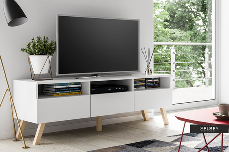 tv lowboard lavello wood mit led. Black Bedroom Furniture Sets. Home Design Ideas