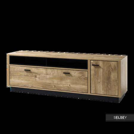 TV-Lowboard HARRISOMY in Eiche Ribbec/Schwarz 183 cm