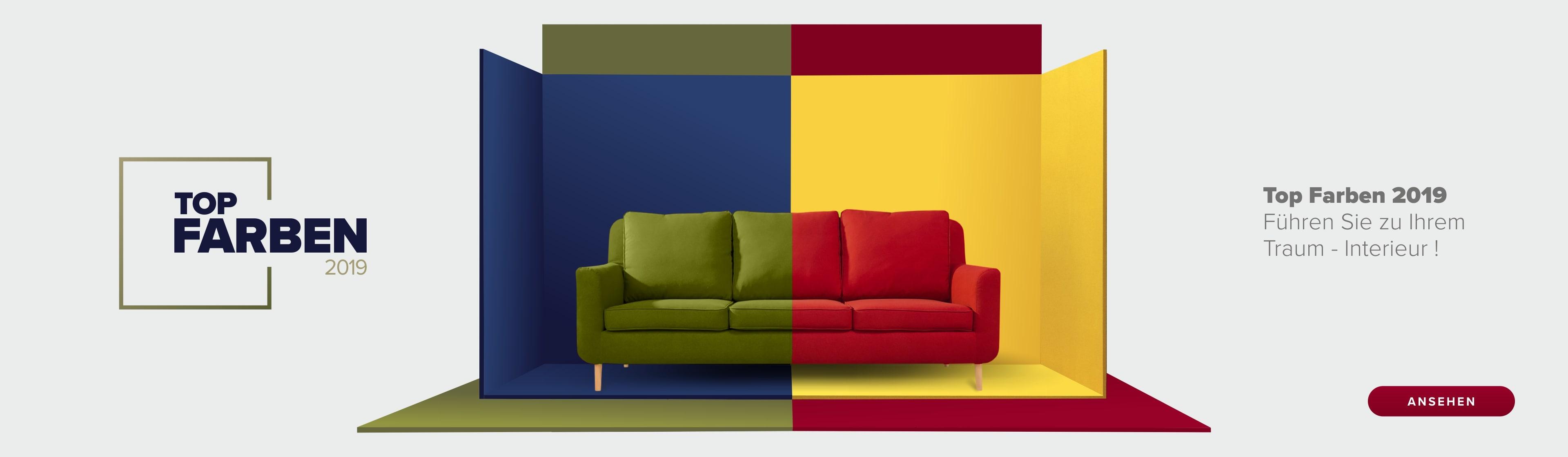 Eine bunte Fotocollage mit den Trend-Farben des kommenden Jahres.